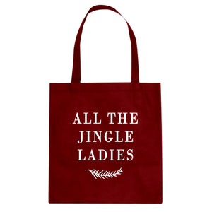 All the Jingle Ladies Cotton Canvas Tote Bag
