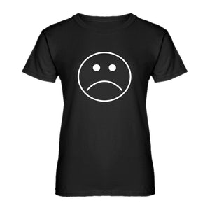 Womens Sad Face Ladies' T-shirt