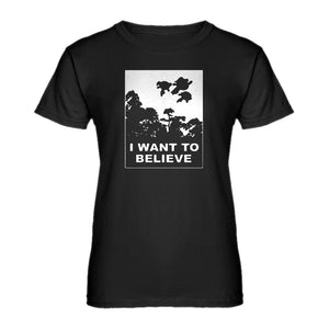Womens I Want to Believe Super Girls Ladies' T-shirt