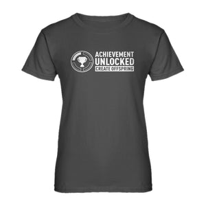 Womens Achievement Unlocked Create Offspring Ladies' T-shirt