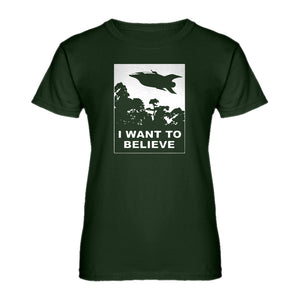 Womens I Want to Believe Planet Express Ladies' T-shirt