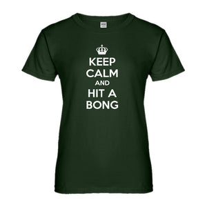 Womens Keep Calm and Hit a Bong Ladies' T-shirt
