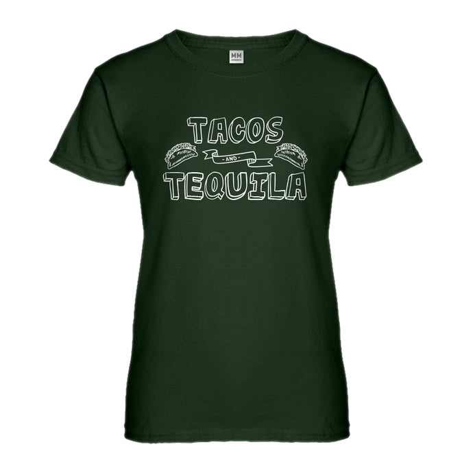 Womens Tacos and Tequila Ladies' T-shirt