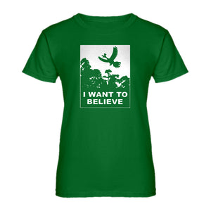 Womens I Want to Believe Kanto Sighting Ladies' T-shirt