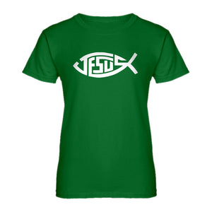 Womens Jesus Fish Ladies' T-shirt
