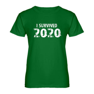 Womens I Survived 2020 Ladies' T-shirt