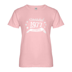 Womens Established 1977 Ladies' T-shirt