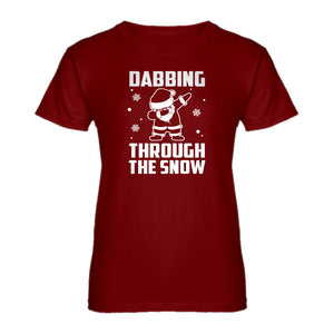 Womens Dabbing through the Snow Ladies' T-shirt