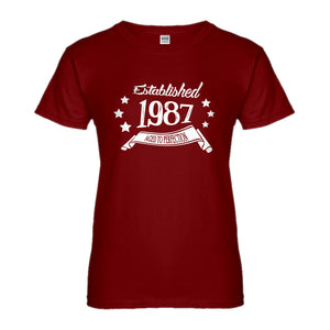 Womens Established 1987 Ladies' T-shirt