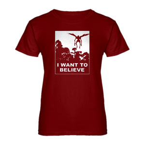 Womens I Want to Believe Shinigami Ladies' T-shirt