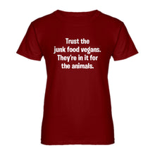 Womens Junk Food Vegans Ladies' T-shirt