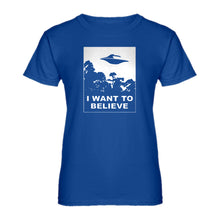 Womens I Want to Believe Ladies' T-shirt