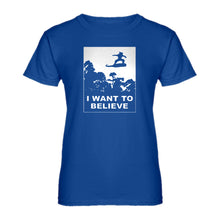 Womens I Want to Believe Nimbus Fighter Ladies' T-shirt