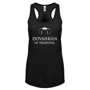Dovahkiin in Training Womens Racerback Tank Top
