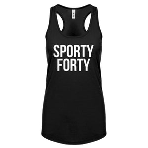 Racerback Sporty Forty Womens Tank Top
