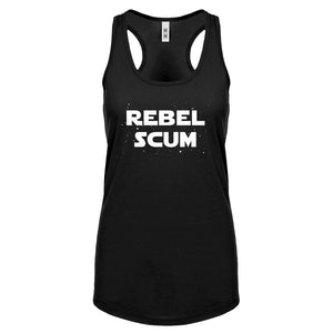 Racerback Rebel Scum Womens Tank Top