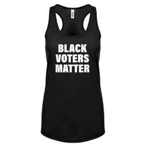 BLACK VOTERS MATTER Womens Racerback Tank Top
