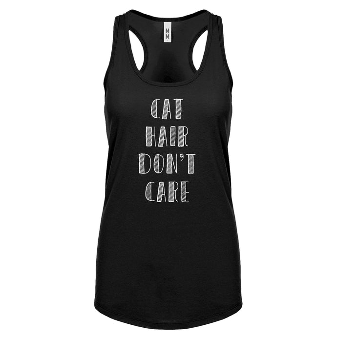 Racerback Cat Hair Don't Care Womens Tank Top