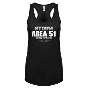 Storm Area 51 They Can't Stop Us All Womens Racerback Tank Top
