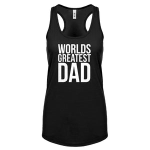 Racerback Worlds Greatest Dad Womens Tank Top
