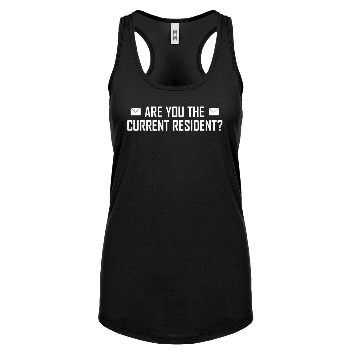Racerback Are you the Current Resident? Womens Tank Top