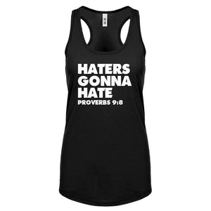 Racerback Haters Gonna Hate Proverbs 9:8 Womens Tank Top