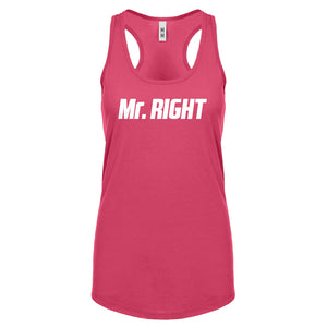 Racerback Mr. Right Womens Tank Top