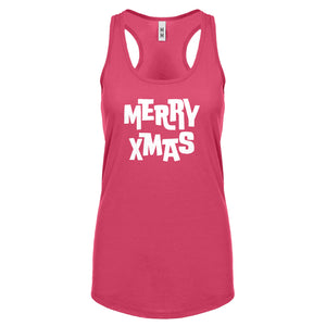 Merry Xmas Womens Racerback Tank Top