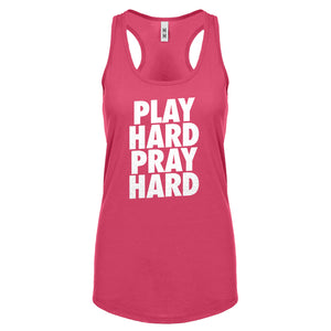 Racerback Play Hard Pray Hard (was 7006) Womens Tank Top