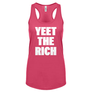 YEET THE RICH Womens Racerback Tank Top
