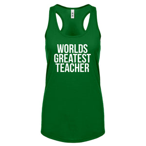 Racerback Worlds Greatest Teacher Womens Tank Top