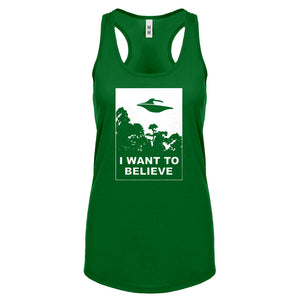 I Want to Believe Womens Racerback Tank Top