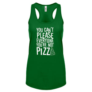 Racerback You're Not Pizza Womens Tank Top