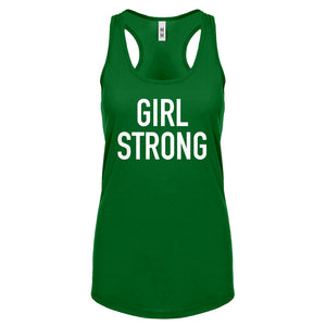 Racerback Girl Strong Womens Tank Top