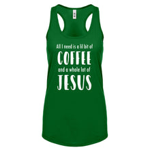 Lil Bit Coffee Whole Lotta Jesus Womens Racerback Tank Top