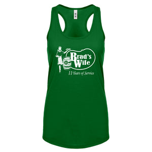 Racerback Brad's Wife Womens Tank Top