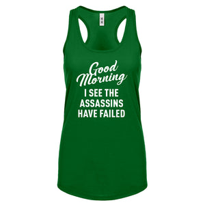 Racerback Good Morning Womens Tank Top