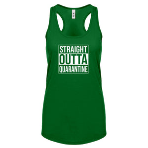 Straight Outta Quarantine Womens Racerback Tank Top