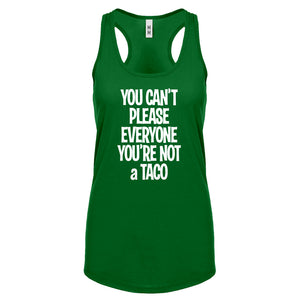 Racerback Youre not a Taco Womens Tank Top