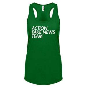 Racerback Action Fake News Team Womens Tank Top