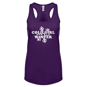 Cold Girl Winter Womens Racerback Tank Top