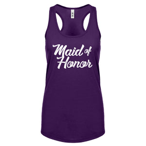 Racerback Maid of Honor Womens Tank Top