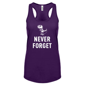 Racerback Never Forget Womens Tank Top