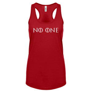 Racerback No One Womens Tank Top