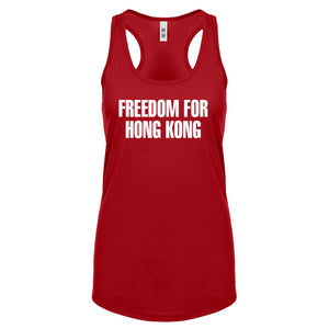 Freedom for Hong Kong Womens Racerback Tank Top
