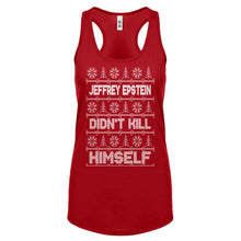 Jeffrey Epstein Ugly Christmas Sweater Womens Racerback Tank Top
