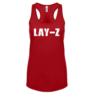 Racerback Lay-Z Womens Tank Top