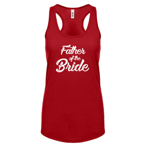 Racerback Father of the Bride Womens Tank Top