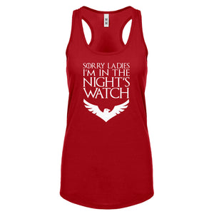 Racerback Sorry Ladies Nights Watch Womens Tank Top
