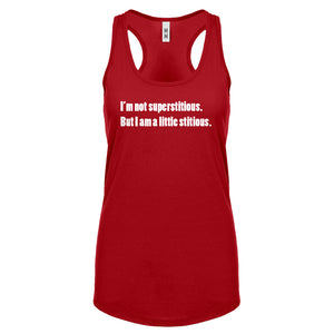 I'm not superstitious Womens Racerback Tank Top